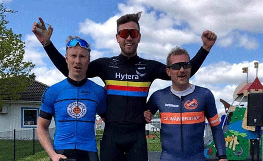mountainbike race win
