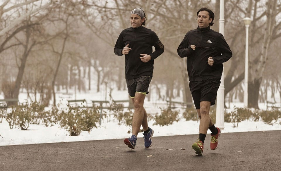 Winter running clothing and gear