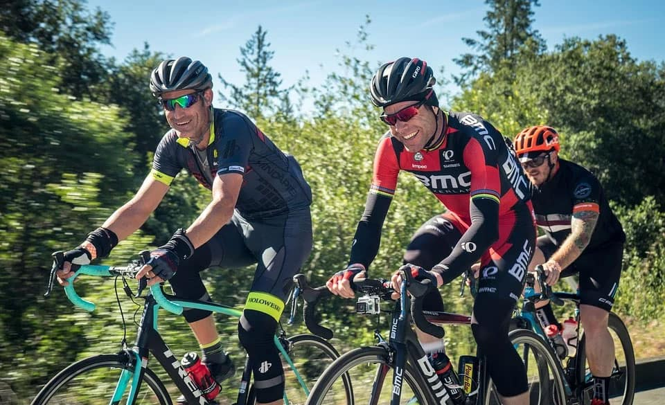 group rides and bunch rides for cyclists