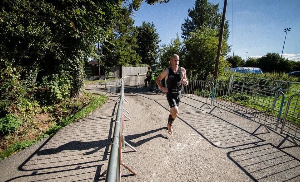 training for a triathlon run leg