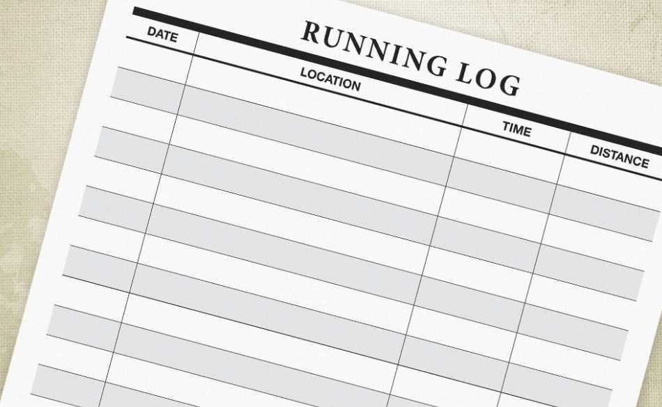 Running training log