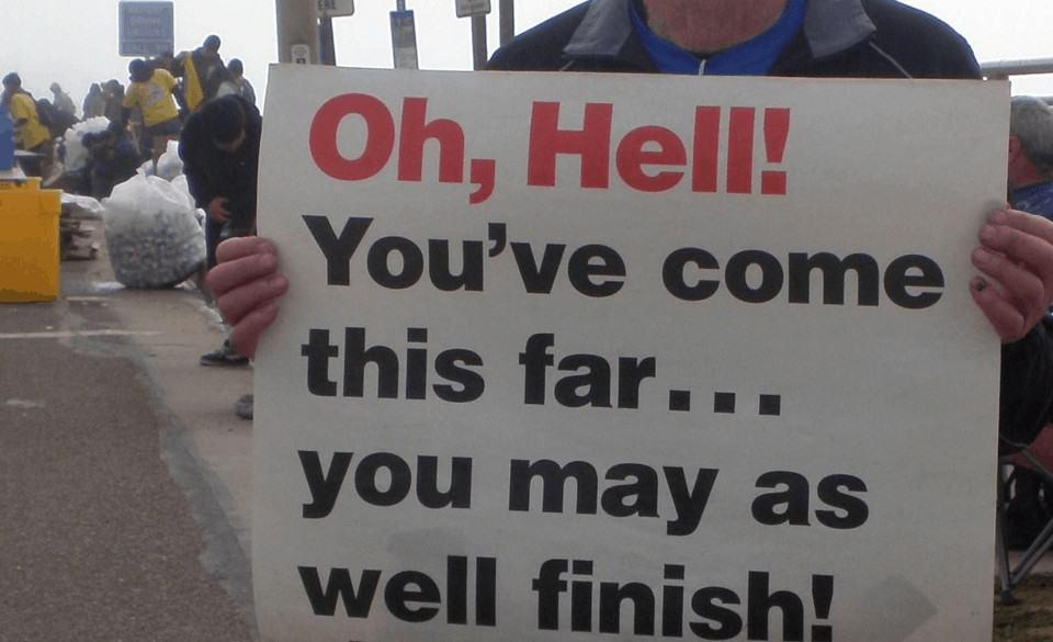 triathlon signs
