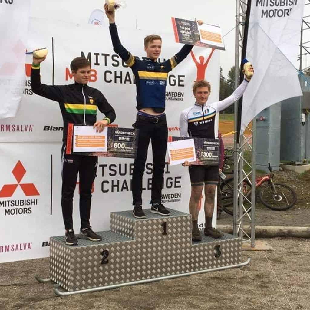 mountain bike podium
