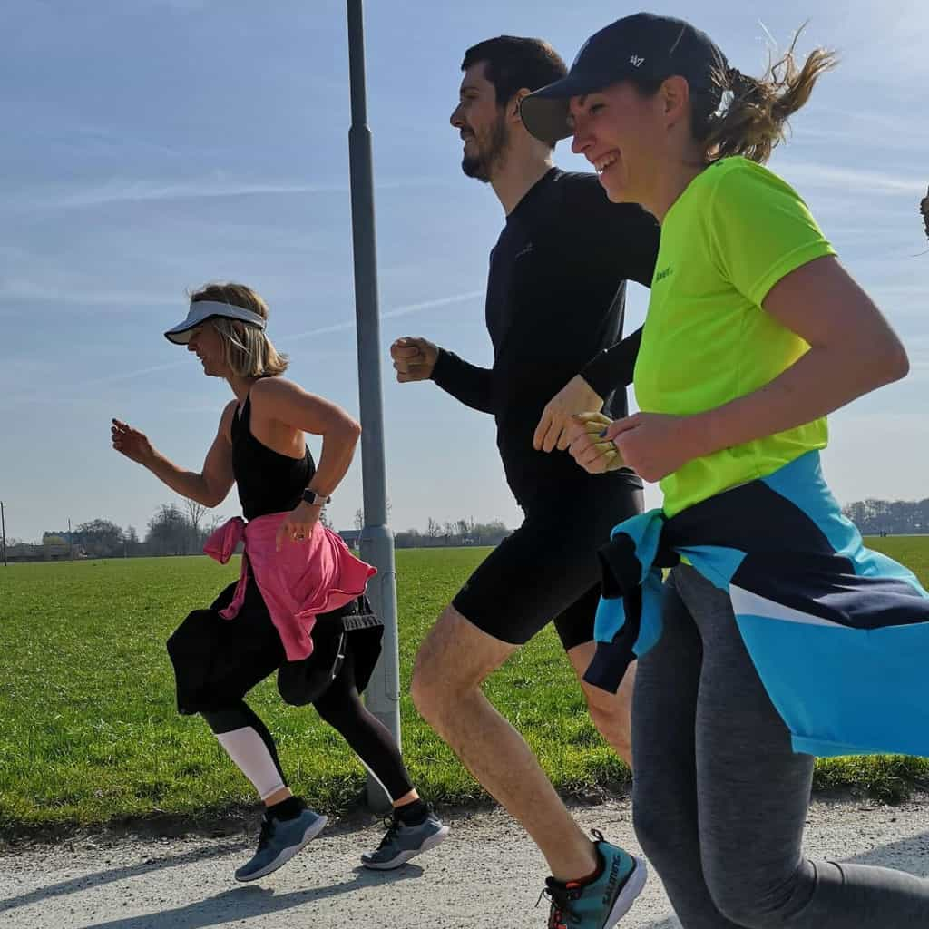 running training group