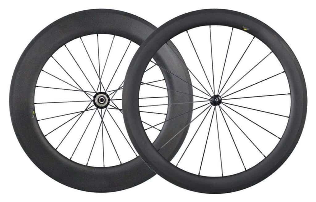 Road bike carbon wheels 55/86
