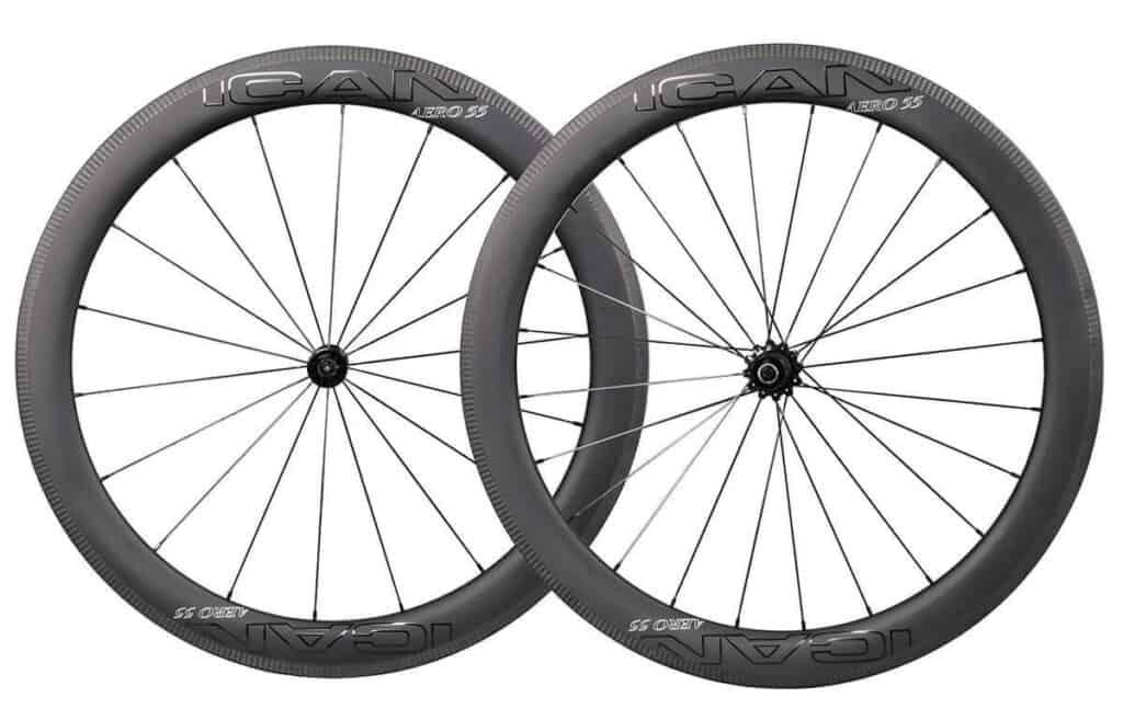 Road Bike carbon wheels aero 55